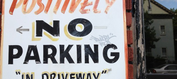 Positively No Parking