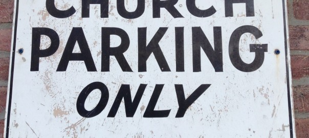 CHURCH PARKING ONLY