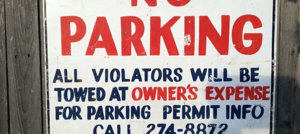 No Parking all Violators