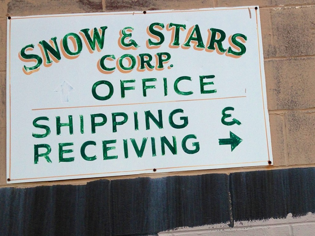 """SNOW & STARS CORP. OFFICE SHIPPING & RECEIVING → """