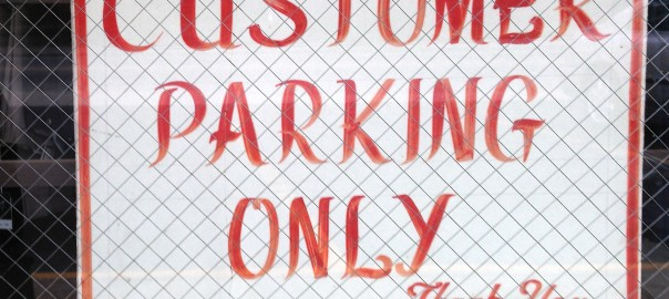 Customer Parking Only Thank-You