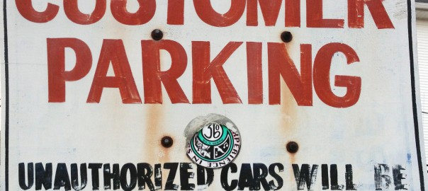 Customer Parking Unauthorized Cars