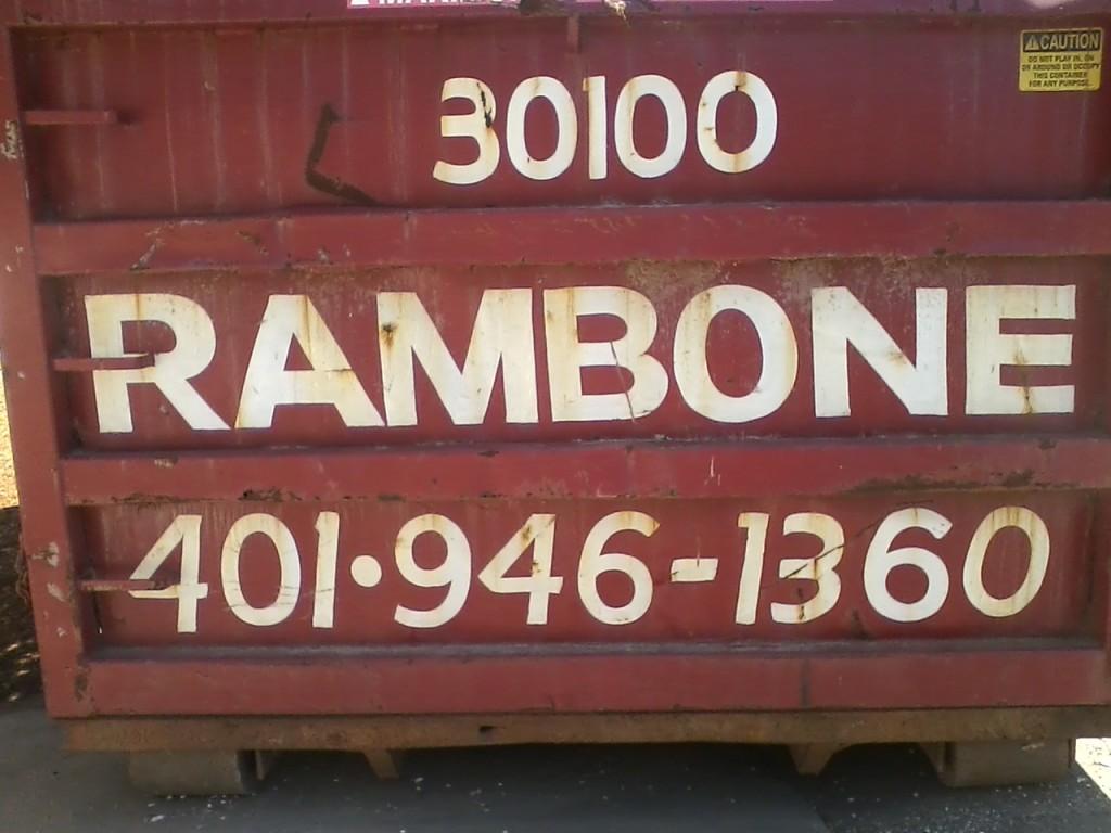 """""""30100 RAMBONE 401·946-1360"""""""