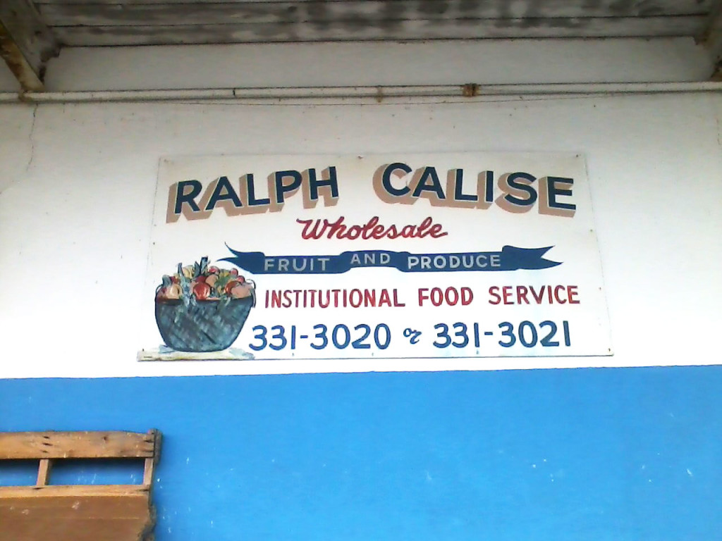 """RALPH CALISE Wholesale FRUIT AND PRODUCE INSTITUTIONAL FOOD SERVICE 331-3020 or 331-3021"""