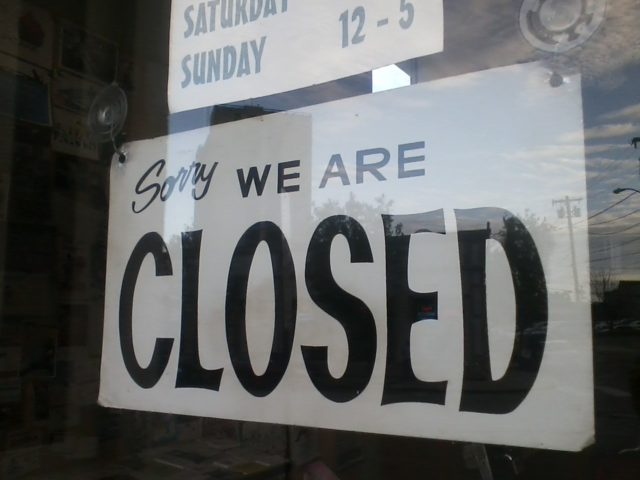 Sorry, We Are Closed