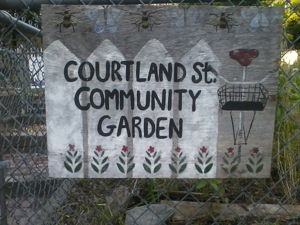 """COURTLAND St. COMMUNITY GARDEN"""