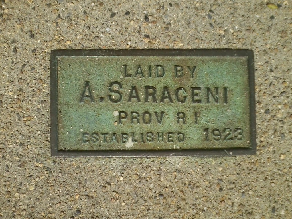 """LAID BY A.SARACENI PROV RI ESTABLISHED 1923"""