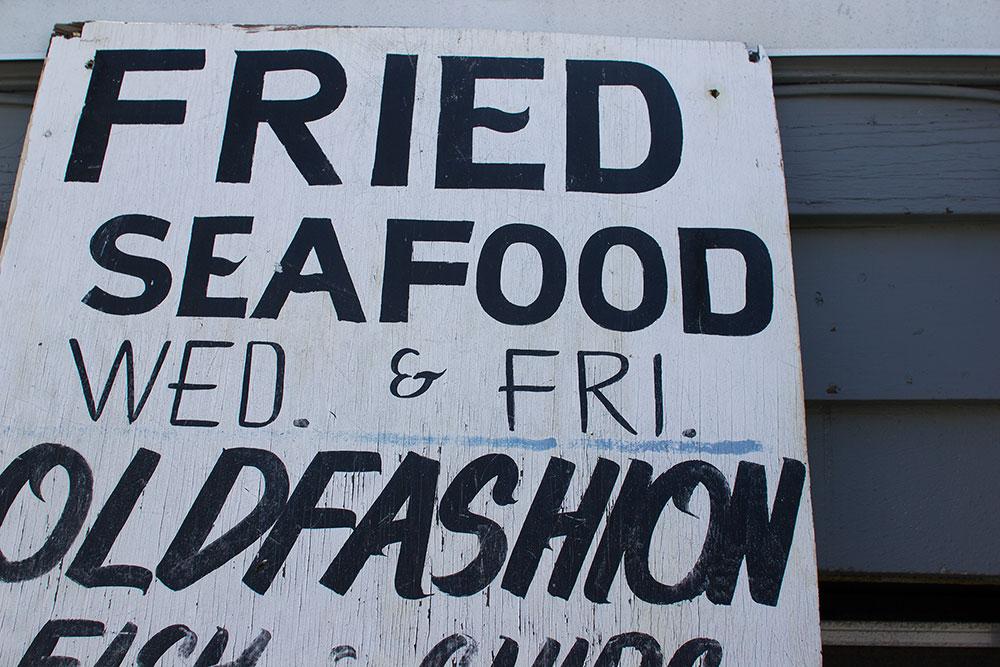 Fried Seafood: closeup