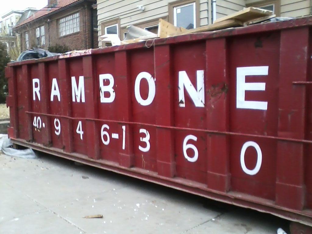 """""""RAMBONE"""" dumpster"""