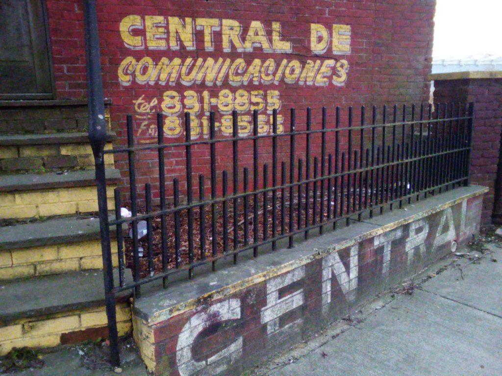 CENTRAL DE COMUNICACIONES sign