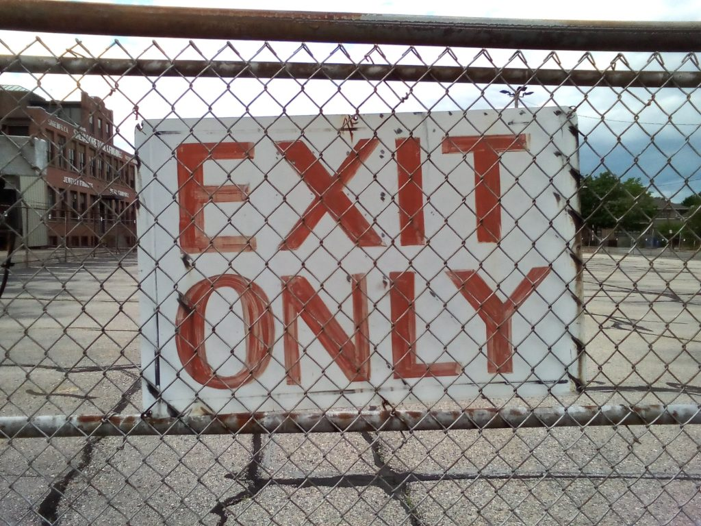 """""""Exit Only"""" sign"""